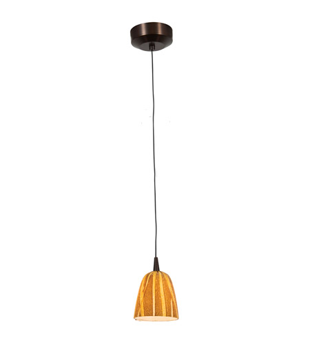 Access Lighting Tungsten 1 Light LED Pendant with Safari Glass in Bronze with Amazon Glass 72924LED-BRZ/AMZ photo
