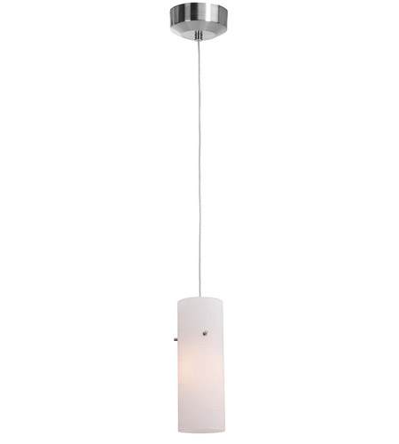 Access Lighting Tungsten 1 Light LED Pendant with Anari Silk (s) Glass in Brushed Steel 72931-BS/OPL photo