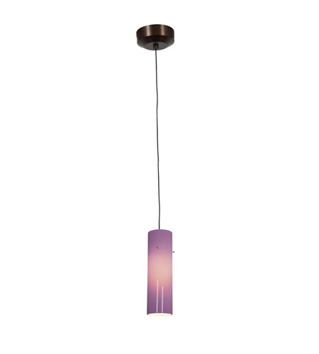 Access Lighting Tungsten 1 Light Pendant in Bronze with Plum Glass 94932LED-4-BRZ/PLM photo