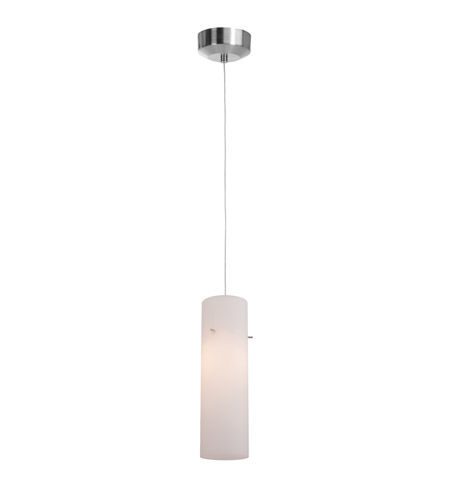 Access lighting tungsten 1 light pendant in brushed steel with opal glass 94932led 4 bs opl