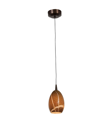 Access Lighting Tungsten 1 Light LED Pendant with Safari Glass in Bronze with Amazon Glass 72936LED-BRZ/AMZ photo