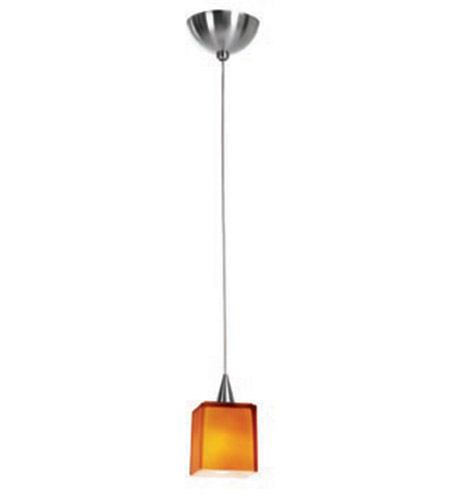 Access Lighting Alpha 1 Light Mini-Pendant in Brushed Steel 90918-BS/AMB photo