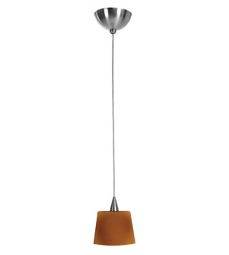 Access Lighting Alpha 1 Light Mini-Pendant in Brushed Steel 90920-BS/AMB photo