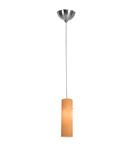 Access Lighting Alpha 1 Light Mini-Pendant in Brushed Steel 90932-BS/AMB photo