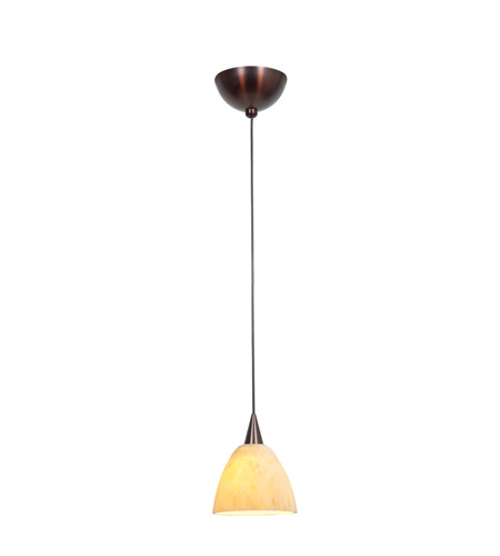 Access Lighting Alpha 1 Light Mini-Pendant in Bronze 90942-BRZ/AMM photo