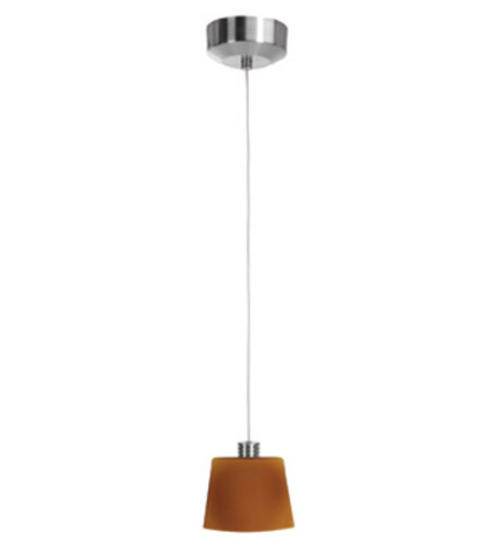 Access Lighting Beta 1 Light Mini-Pendant in Brushed Steel 92920-BS/AMB photo