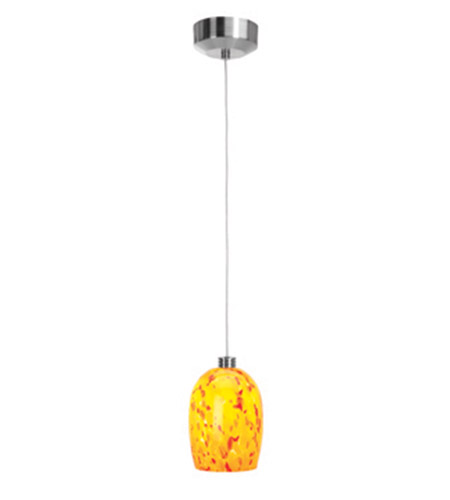 Access Lighting Beta 1 Light Mini-Pendant in Brushed Steel 92961-BS/AMB photo
