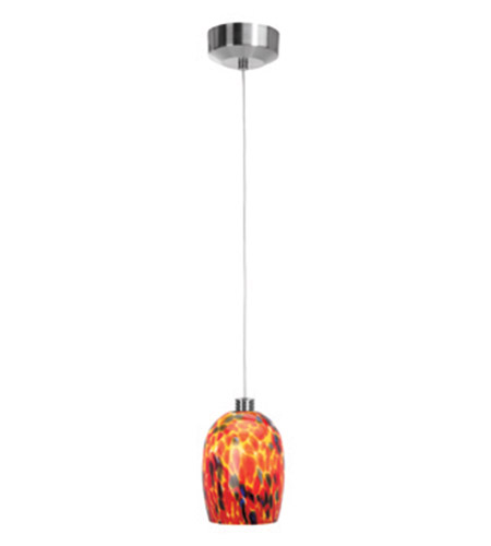 Access Lighting Beta 1 Light Mini-Pendant in Brushed Steel 92961-BS/CRN photo