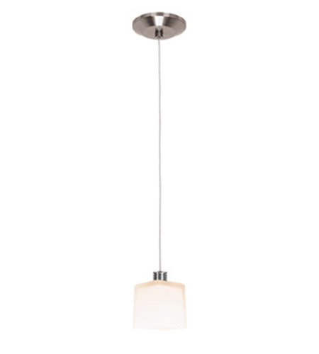 Access Lighting Gamma 1 Light Mini-Pendant in Brushed Steel 93918-BS/OPL photo