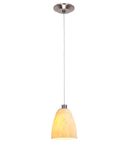 Access Lighting Gamma 1 Light Mini-Pendant in Brushed Steel 93941-BS/AMM photo