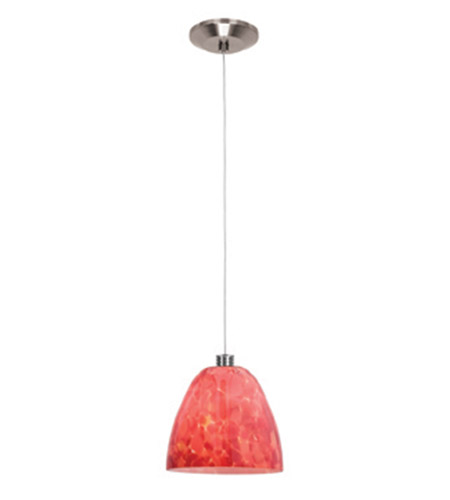 Access Lighting Gamma 1 Light Mini-Pendant in Brushed Steel 93942-BS/BDY photo