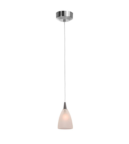 Access 94019UJ-BS/FST Zeta Mania 1 Light 4 inch Brushed Steel Pendant Ceiling Light in Frosted, Flat photo