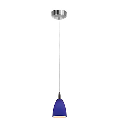 Access 94019LED-BS/COB Tungsten LED 4 inch Brushed Steel Pendant Ceiling Light in Cobalt photo