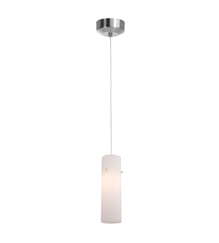 Access Lighting Zeta 1 Light Pendant in Brushed Steel with Opal Glass 94932-12V-2-BS/OPL photo
