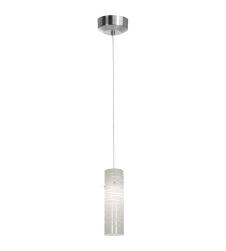 Access Lighting Zeta 1 Light Mini-Pendant in Brushed Steel 94932-BS/WHTLN photo