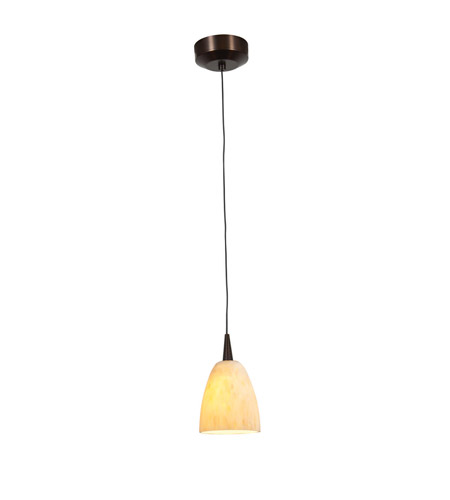 Access Lighting Zeta 1 Light Pendant in Bronze with Amber Marble Glass 94941-12V-1-BRZ/AMM photo