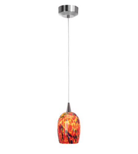 Access Lighting Zeta 1 Light Mini-Pendant in Brushed Steel 94961-BS/CRN photo