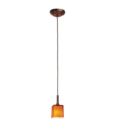 Access Lighting Omega 1 Light Pendant in Bronze with Amber Glass 96918-12V-3-BRZ/AMB photo