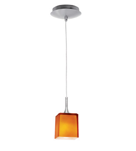 Access 96918-BS/AMB Omega 1 Light 3 inch Brushed Steel Mini-Pendant Ceiling Light photo