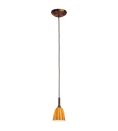 Access Lighting Omega 1 Light Low Voltage Pendant with Safari Glass in Bronze with Amazon Glass 96924-BRZ/AMZ photo