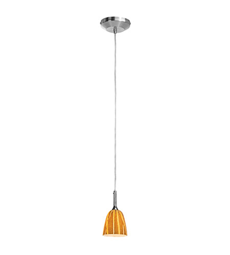 Access Lighting Omega 1 Light Mini-Pendant in Brushed Steel 96924-BS/AMZ photo