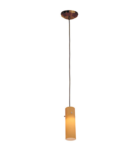 Access Lighting Omega 1 Light Low Voltage Pendant with Anari Silk Glass in Bronze with Amber Glass 96932-BRZ/AMB photo