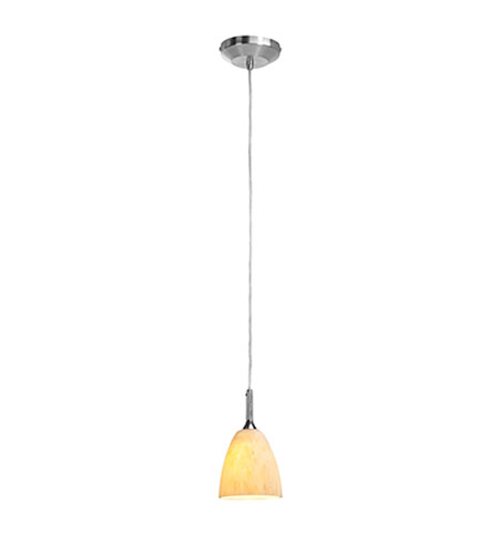 Access Lighting Omega 1 Light Mini-Pendant in Brushed Steel 96941-BS/AMM photo