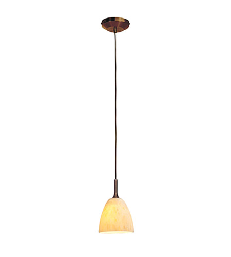 Access Lighting Omega 1 Light Pendant in Bronze with Amber Marble Glass 96942-12V-2-BRZ/AMM photo