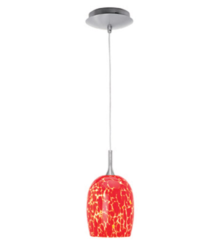 Access Lighting Omega 1 Light Mini-Pendant in Brushed Steel 96961-BS/RED photo