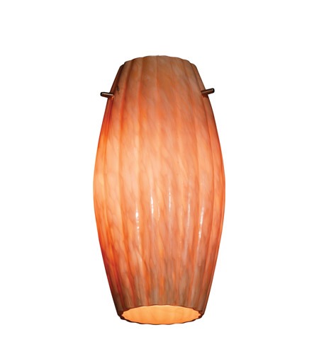 Access 976RJ-AMM Fleur _ Glass Shade in Amber Marble, Moulded Cylinder photo