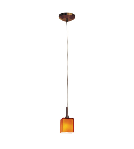 Access 97918-BRZ/AMB Delta 1 Light 3 inch Bronze Pendant Ceiling Light in Amber photo
