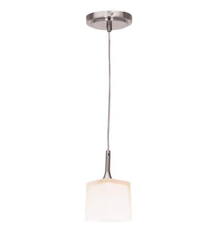 Access Lighting Delta 1 Light Mini-Pendant in Brushed Steel 97918-BS/OPL photo