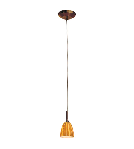 Access Lighting Delta 1 Light Line Voltage Pendant with Safari Glass in Bronze with Amazon Glass 97924-BRZ/AMZ photo