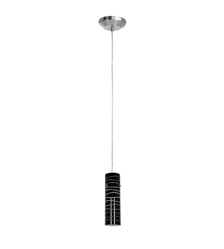 Access 97932-BS/BLKLN Delta 1 Light 3 inch Brushed Steel Pendant Ceiling Light in Black Lined photo