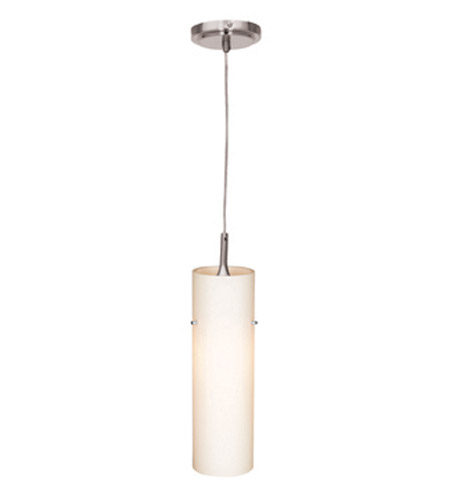 Access Lighting Delta 1 Light Mini-Pendant in Brushed Steel 97932-BS/OPL photo