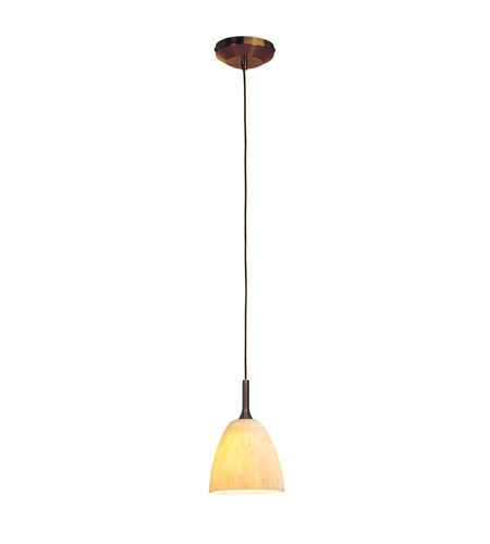 Access Lighting Delta 1 Light Line Voltage Pendant with Fire(l) Glass in Bronze with Amber Marble Glass 97942-BRZ/AMM photo