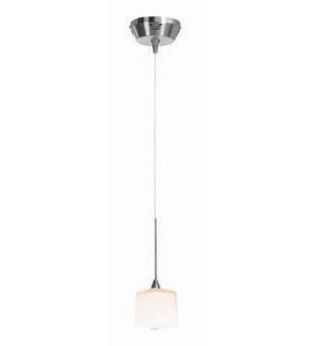 Access Lighting Kappa UniJack 1 Light Mini-Pendant in Brushed Steel 99918-BS/OPL photo