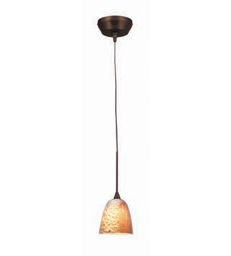Access Lighting Kappa UniJack 1 Light Mini-Pendant in Bronze 99924-BRZ/SLA photo