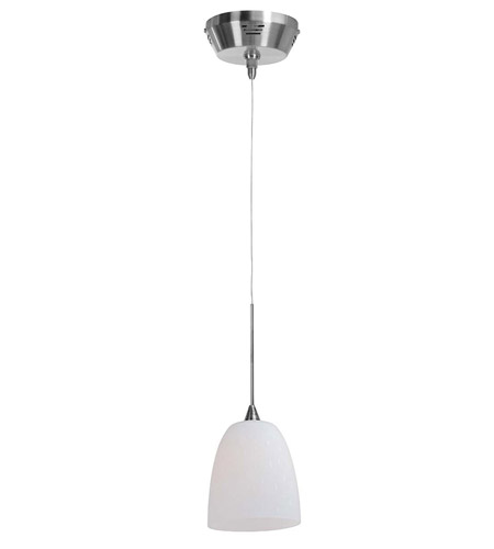 Access Lighting UniJack Kappa UJ 1 Light Low Voltage Pendant with Rain Glass in Brushed Steel 99933-BS/WRD photo