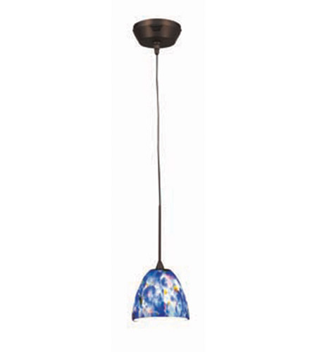 Access Lighting Kappa UniJack 1 Light Mini-Pendant in Bronze 99942-BRZ/BLU photo