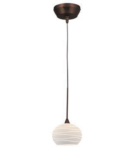 Access Lighting Kappa UniJack 1 Light Mini-Pendant in Bronze 99979-BRZ/WHTLN photo