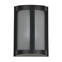 Access 20042LEDMG-BL/RFR Pier LED 10 inch Black Outdoor Wall Sconce