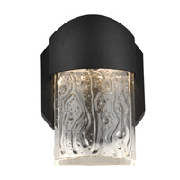 Access 20043LEDDMG-BL/CLR Mist LED 6 inch Black Outdoor Wall Sconce