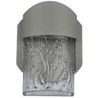 Mist LED 6 inch Satin Outdoor Wall Sconce