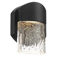 Access 20043S-LEDDMG-BL/CLR Mist LED 5 inch Black ADA Wall Sconce Wall Light
