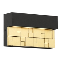 Access 20049LEDDMG-BRZ/GLD Grid LED 8 inch Bronze with Gold ADA Wall Sconce Wall Light