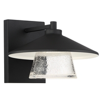 Access 20060LEDDMG-BL/SDG Silo LED 8 inch Black Wall Sconce Wall Light