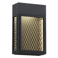Access 20062LEDDMG-BL/GLD Metro LED 7 inch Black and Gold ADA Wall Sconce Wall Light