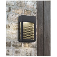 Access 20063LEDDMG-BL/GLD Metro LED 8 inch Black and Gold ADA Wall Sconce Wall Light