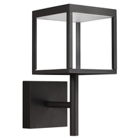 Access 20080LED-BL/CLR Reveal LED 15 inch Black Outdoor Wall Sconce